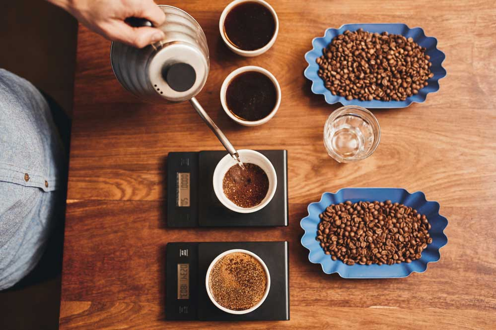 Coffee Being Weighed
