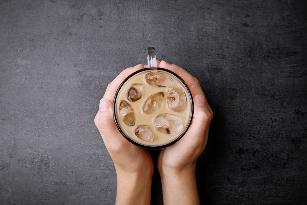 cold cup of iced coffee