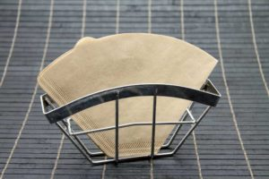 Brown Coffee Filter in Holder VS white coffee filter