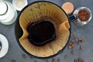 Coffee Grounds being Reused