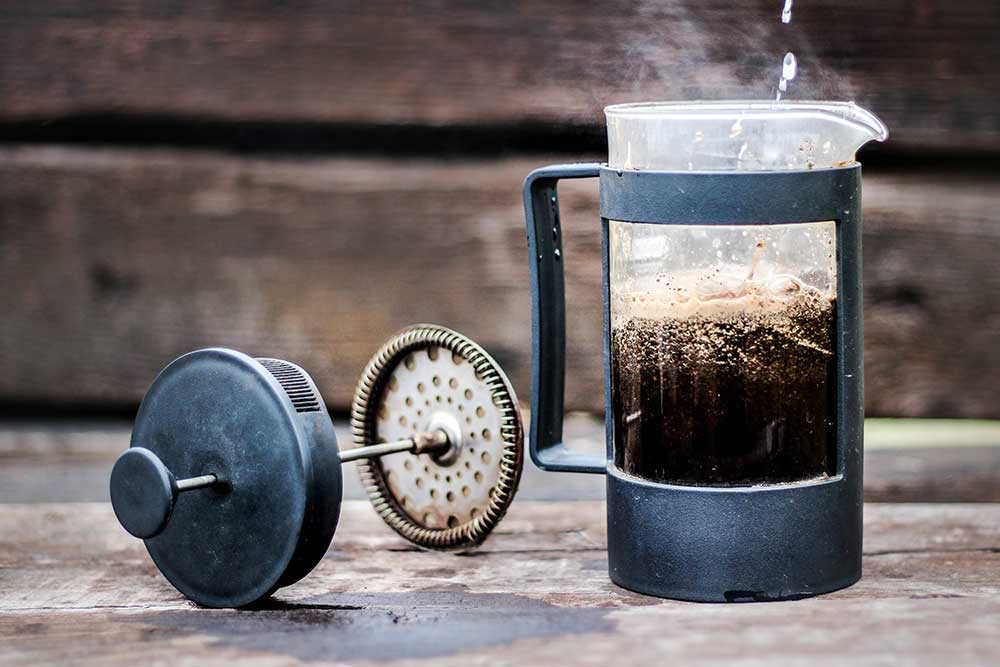 Coffee made In A French Press