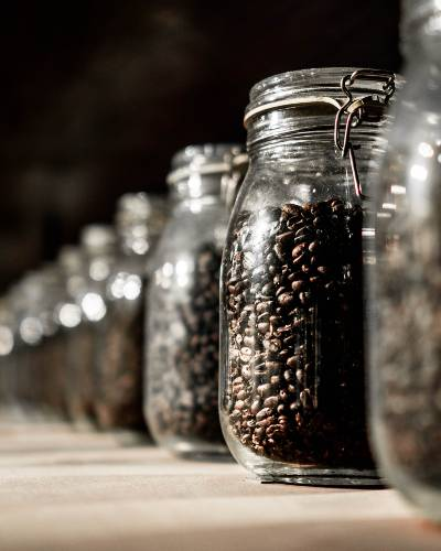 Coffee Beans StoredIn Kilner Jars
