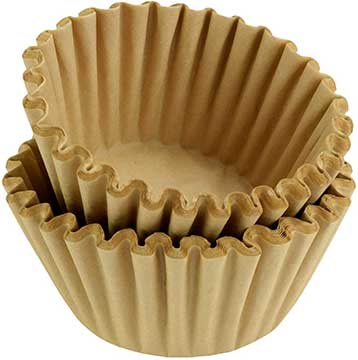 8 12 Cup Basket Coffee Filter - Natural Unbleached, 500