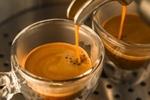 Espresso being made with hard water