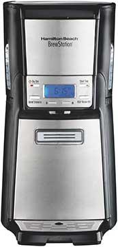 Hamilton Beach (4846 ) Coffee Maker with 12 Cup Capacit -& Internal Storage Coffee Pot