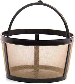 THE ORIGINAL GOLDTONE BRAND Reusable Basket style 4 8 Cup Coffee Filter with Handle