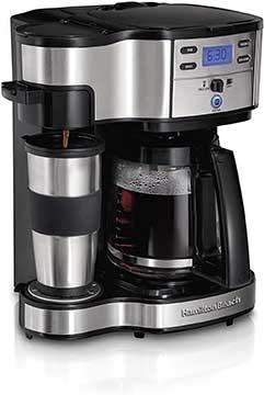 Hamilton Beach 2 Way Brewer Coffee Make , Single Serve and 12 Cup Pot