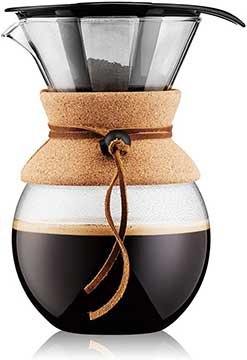 Bodum 11571 109 Pour Over Coffee Maker with Permanent Filter