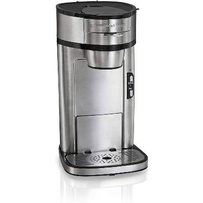 Hamilton Beach Scoop Single Serve Coffee Maker Fast Brewing Stainless Steel (49981A)