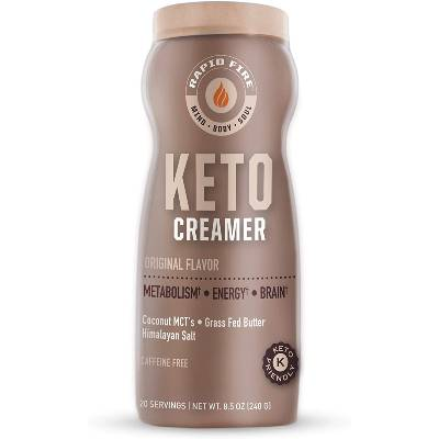 Rapid Fire Ketogenic Creamer with MCT Oil for Coffee or Tea