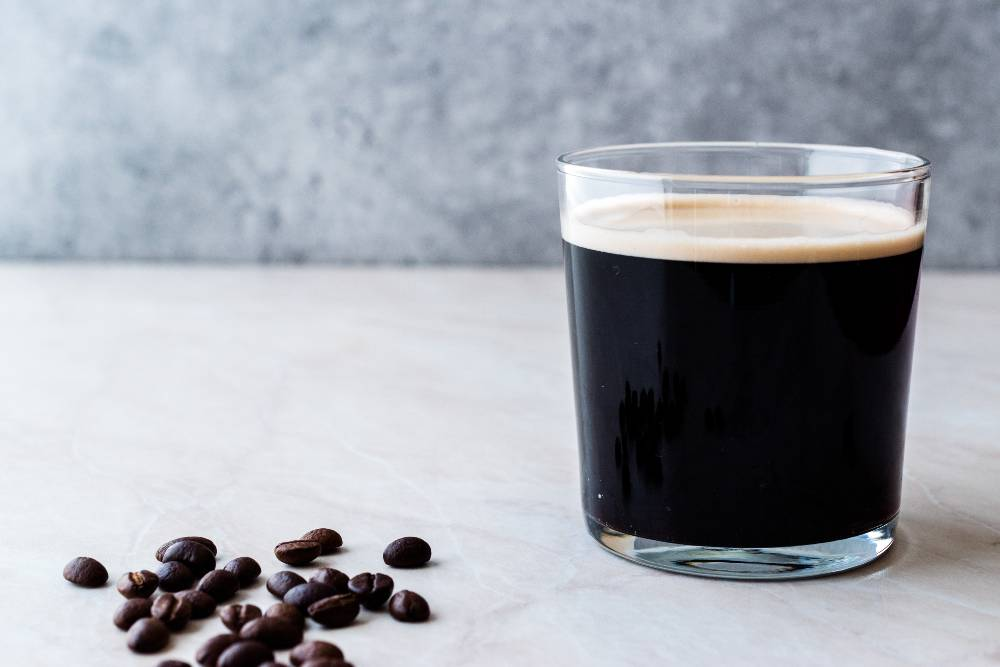 A Cold Frothy Glass of Nitro Cold Brew Coffee