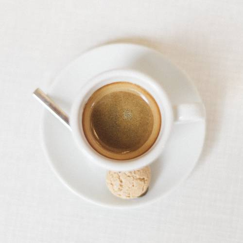A Cup Of Espresso From Above