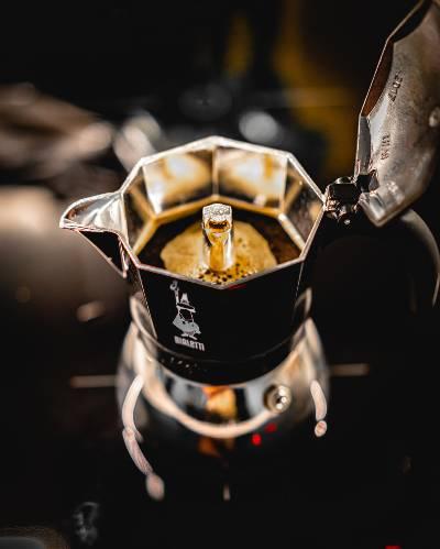A Moka Pot Mid-Brew