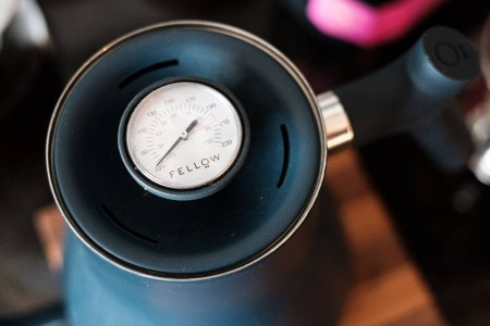 A Thermometer Gauge on a Gooseneck Kettle
