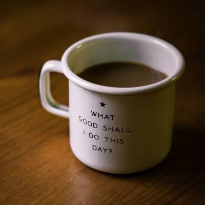A simple mug of coffee