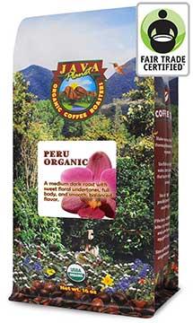 Java Planet's Organic Coffee's Peruvian Single Origin Medium Dark Roast
