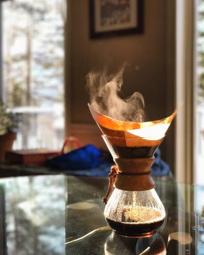 Some Coffee Brewing in a Chemex