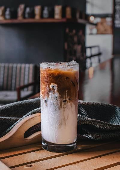 A Milky Iced Coffee