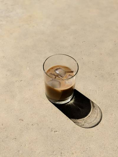 A cold glass of cold brew coffee