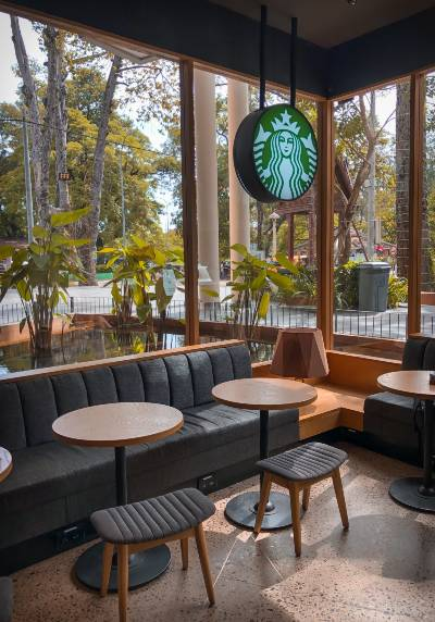 A lovely starbucks cafe