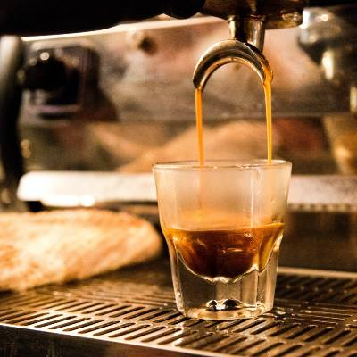 An Espresso Shot Being Pulled