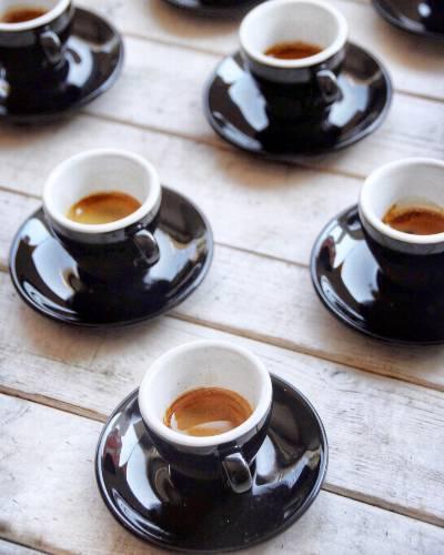 An array of espresso