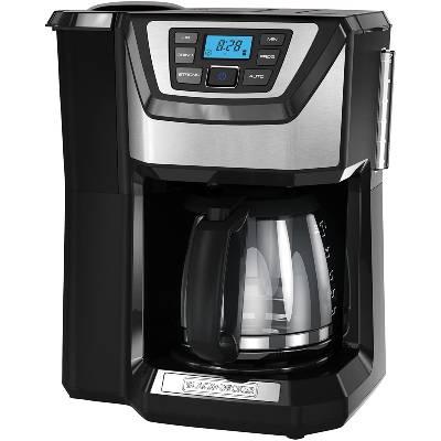 BLACK+DECKER 12-Cup Mill and Brew Coffeemaker Black CM5000B