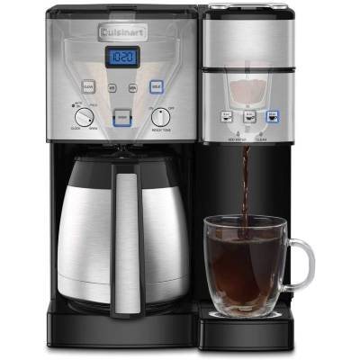 Cuisinart SS-20P1 Coffee Center 10-Cup Thermal Single-Serve Brewer Coffeemaker Silver