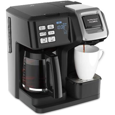 Hamilton Beach FlexBrew Trio Coffee Maker 2-Way Single Serve & Full 12c Pot Compatible with K-Cup Pods or Grounds