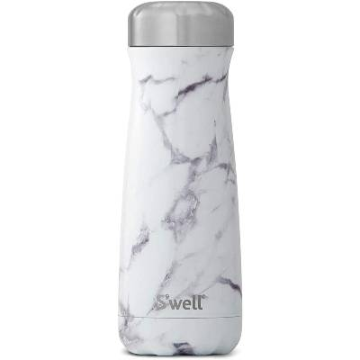 Swell Stainless Steel Traveler - 20 Fl Oz - White Marble - Triple-Layered Vacuum