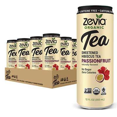 Zevia Organic Sugar Free Iced Tea, Caffeine Free Hibiscus Tea Passionfruit