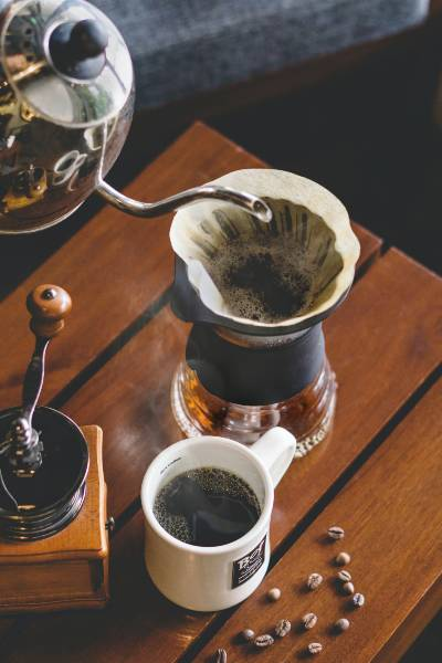 a lovely batch of pour over coffee being brewed