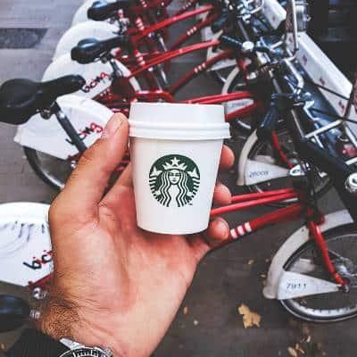 A Starbucks Espresso Shot Cup