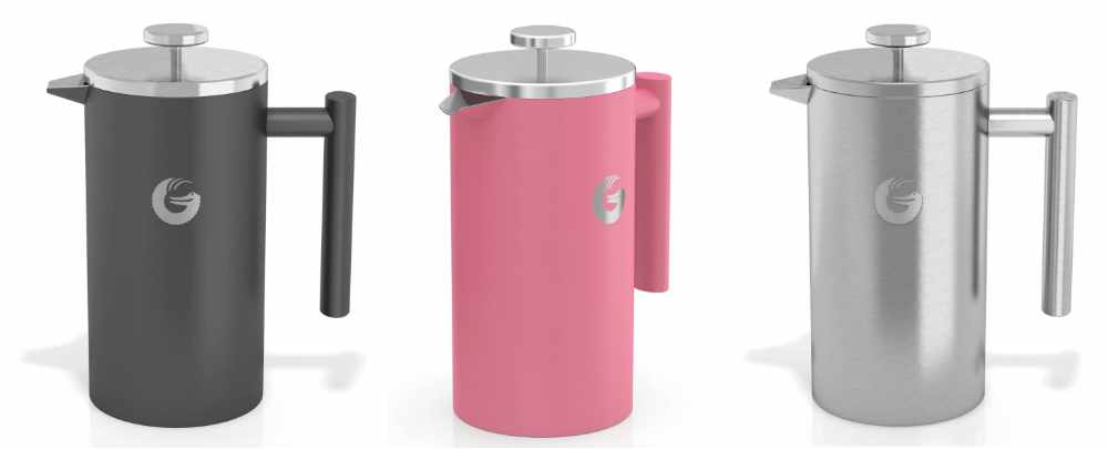 Color Options of The Coffee Gator French Press