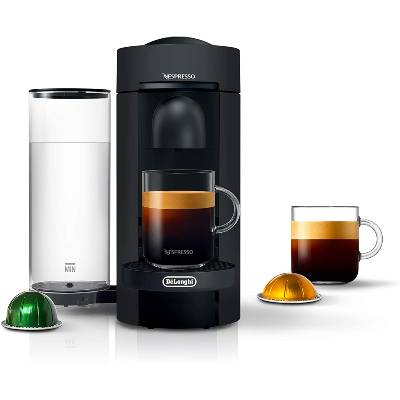 Nespresso VertuoPlus Coffee and Espresso Maker by DeLonghi Limited Edition Black Matte