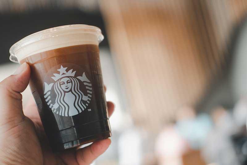 Nitro cold brew coffee at Starbucks