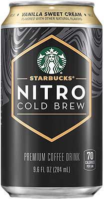 Starbucks Nitro Cold Brew , Vanilla Sweet Cream 9.6 fl oz Can