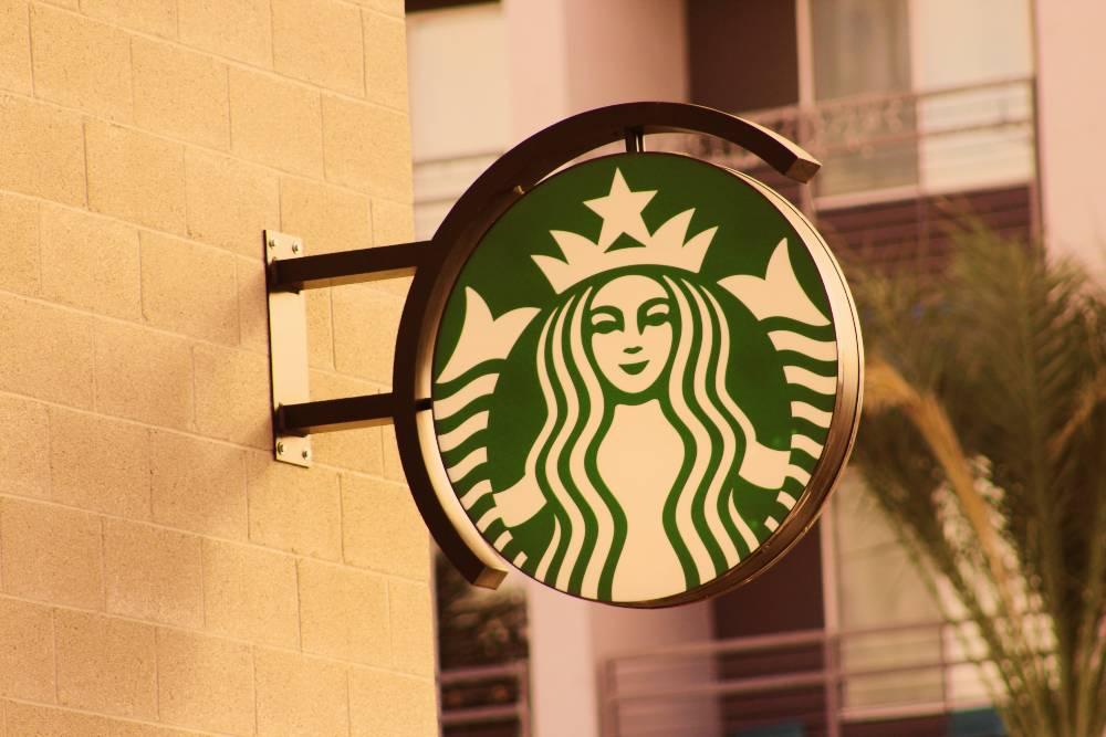 A Massive Starbucks Sign