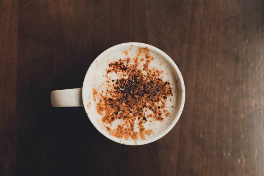 A big mug of starbucks cappuccino