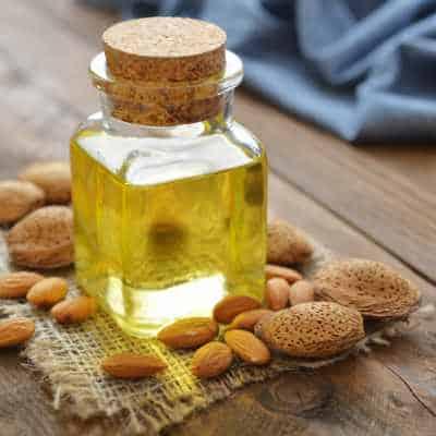 A bottle of almond oil