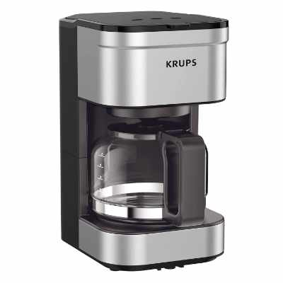 KRUPS Simply Brew Compact Filter Drip Coffee Maker 5-Cup Silver