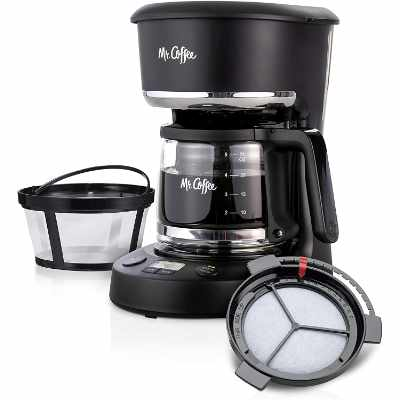 Mr Coffee 5 Cup Programmable 25 oz Mini Brew Now or Later