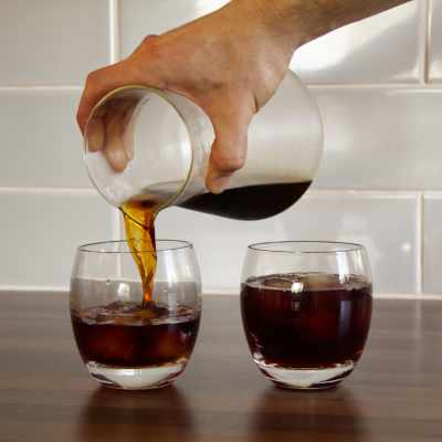 Pouring out some Cold Brew from the Soulhand Coffee Dripper