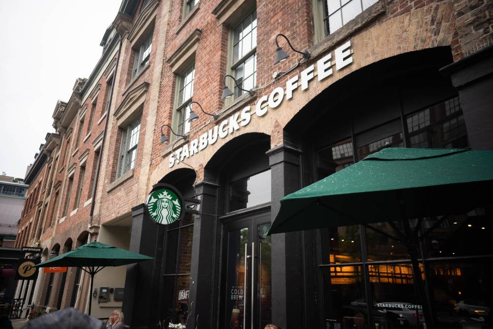 The Storefront of a Starbucks Cafe
