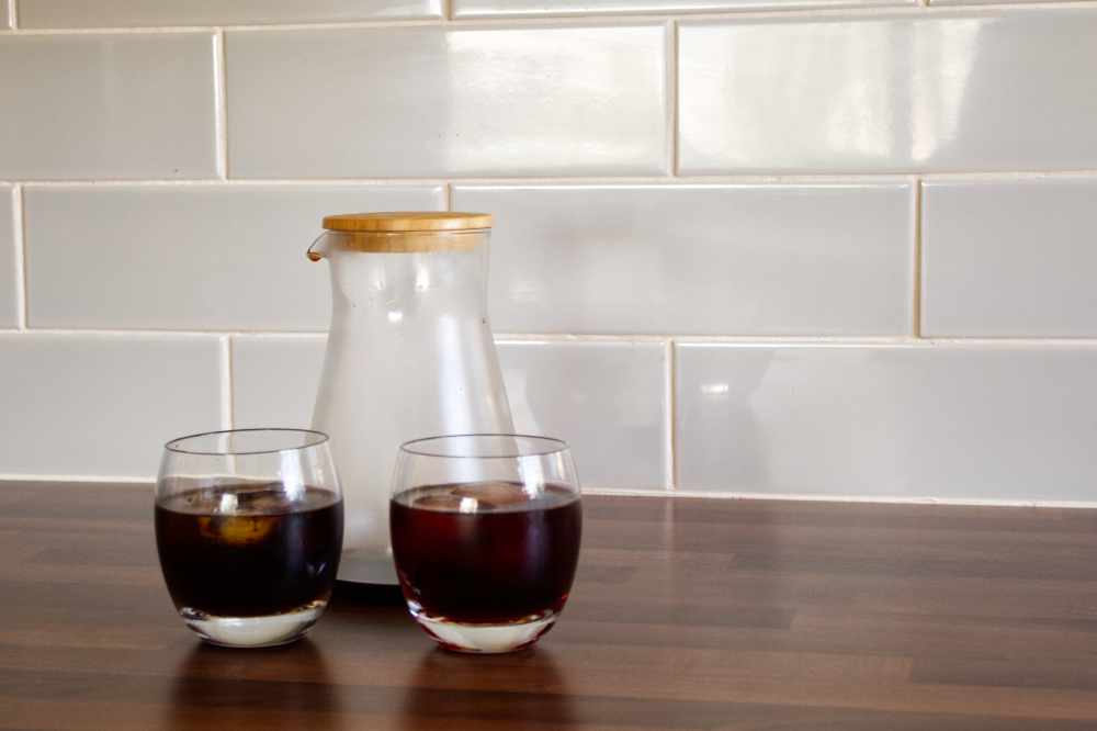 Two glass of cold brew poured out from the soulhand dripper