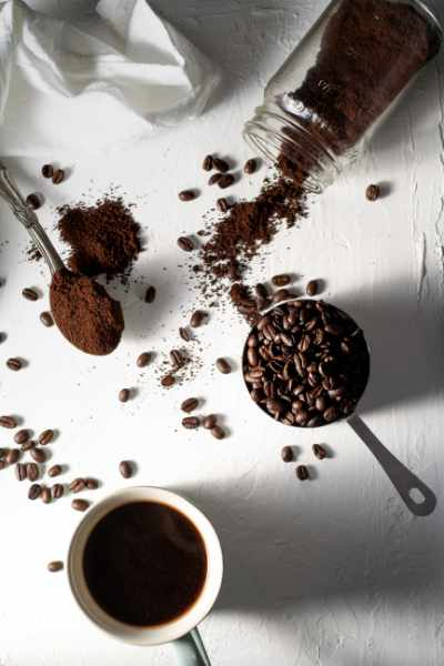 an assortment of coffee from bean to cup
