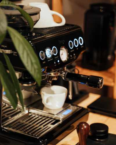 A Sage Barista Extress Semi-automatic Espresso Machine