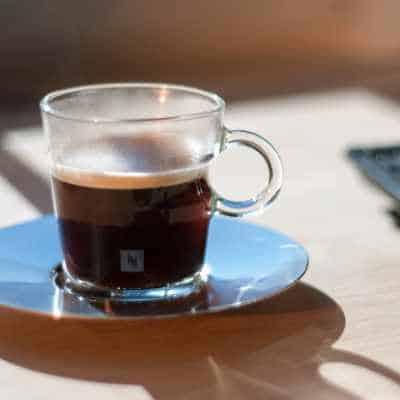 A mug of nespresso coffee