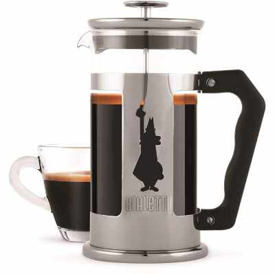 Bialetti Preziosa French Press 8 Cup Stainless Steel