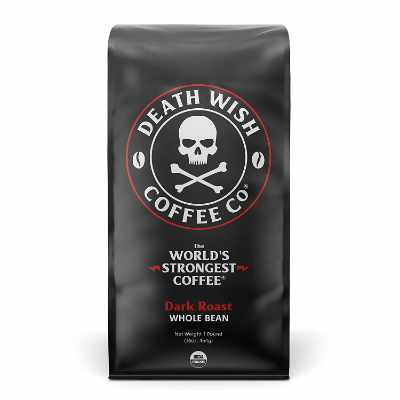 DEATH WISH COFFEE Whole Bean Coffee [16 oz.] The Worlds Strongest